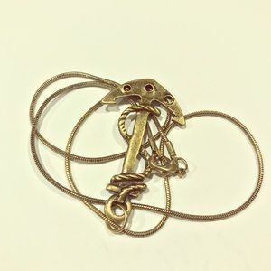 Jewelry - Alloy Anchor Pendant Solid Bronze Chain Necklace